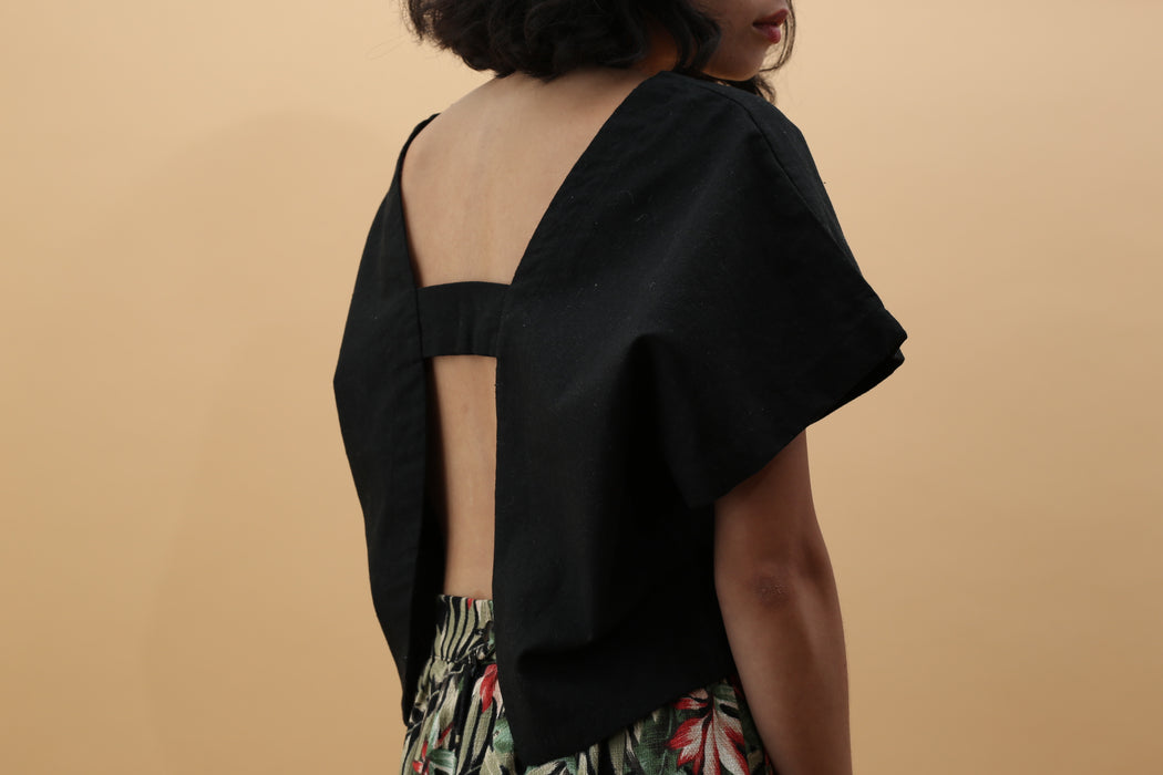 Linen Open Back Top