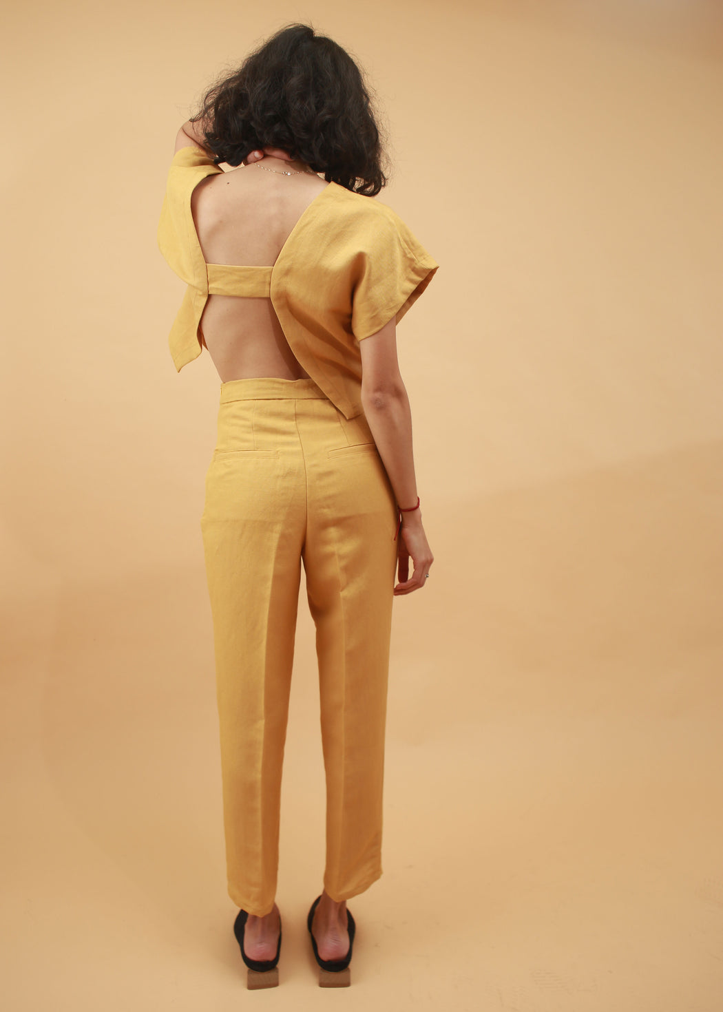 Amelie Slim Fit Trousers- Mustard