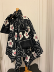 280 Ripped the Stitch Dundas Reversible Poncho/Cape Sz. 9yrs