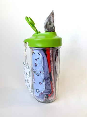 B46 - Hart Creative Co - Reusable Wipes in a Glass Jar Dispenser