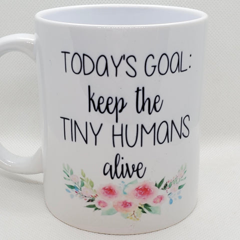 B290  - Creatively Board - Mugs with flowers and Sayings