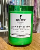B5 - Was A Bottle - Repurposed Glass Candles