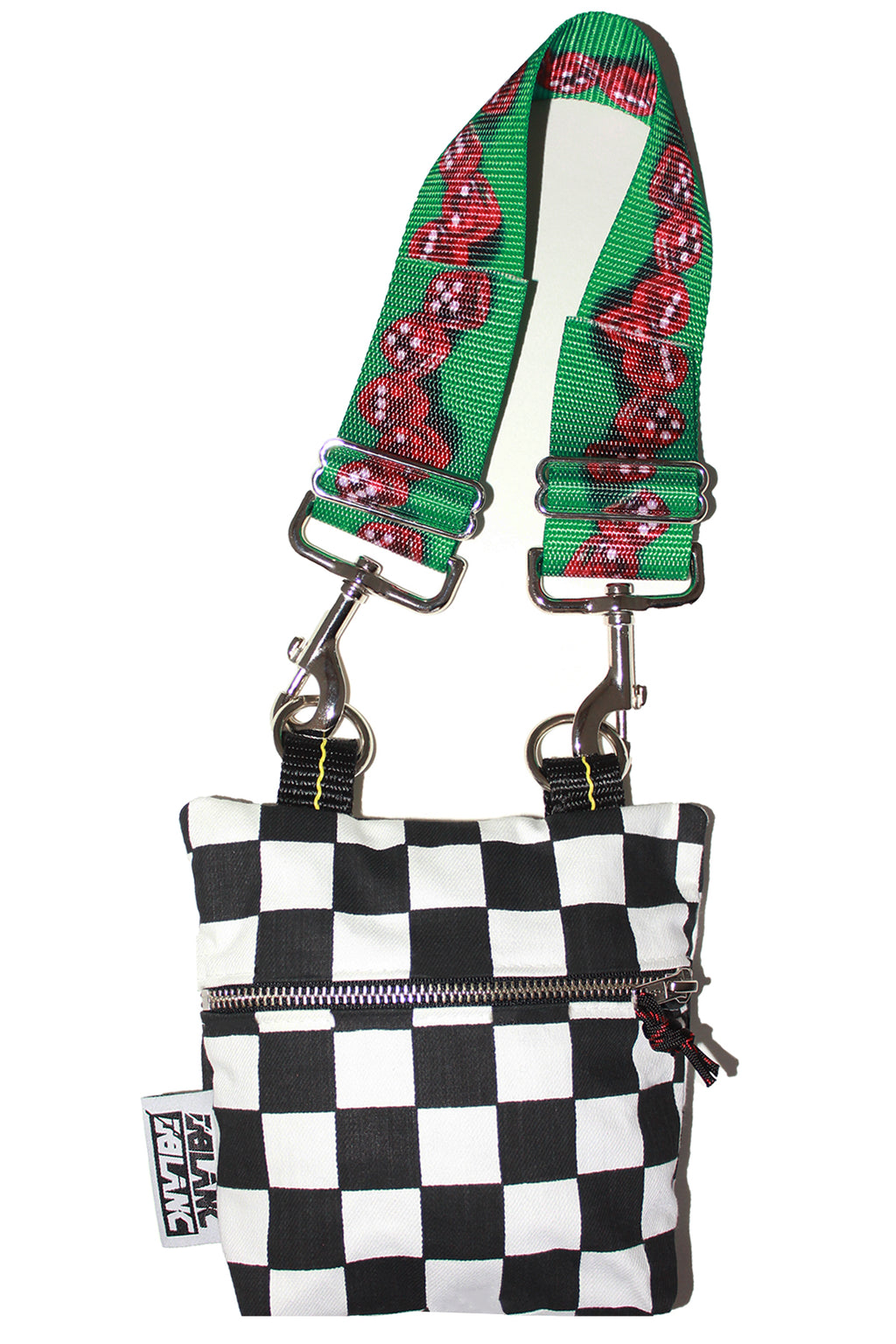 MULTI-STRAP CHECKERBOARD PURSE
