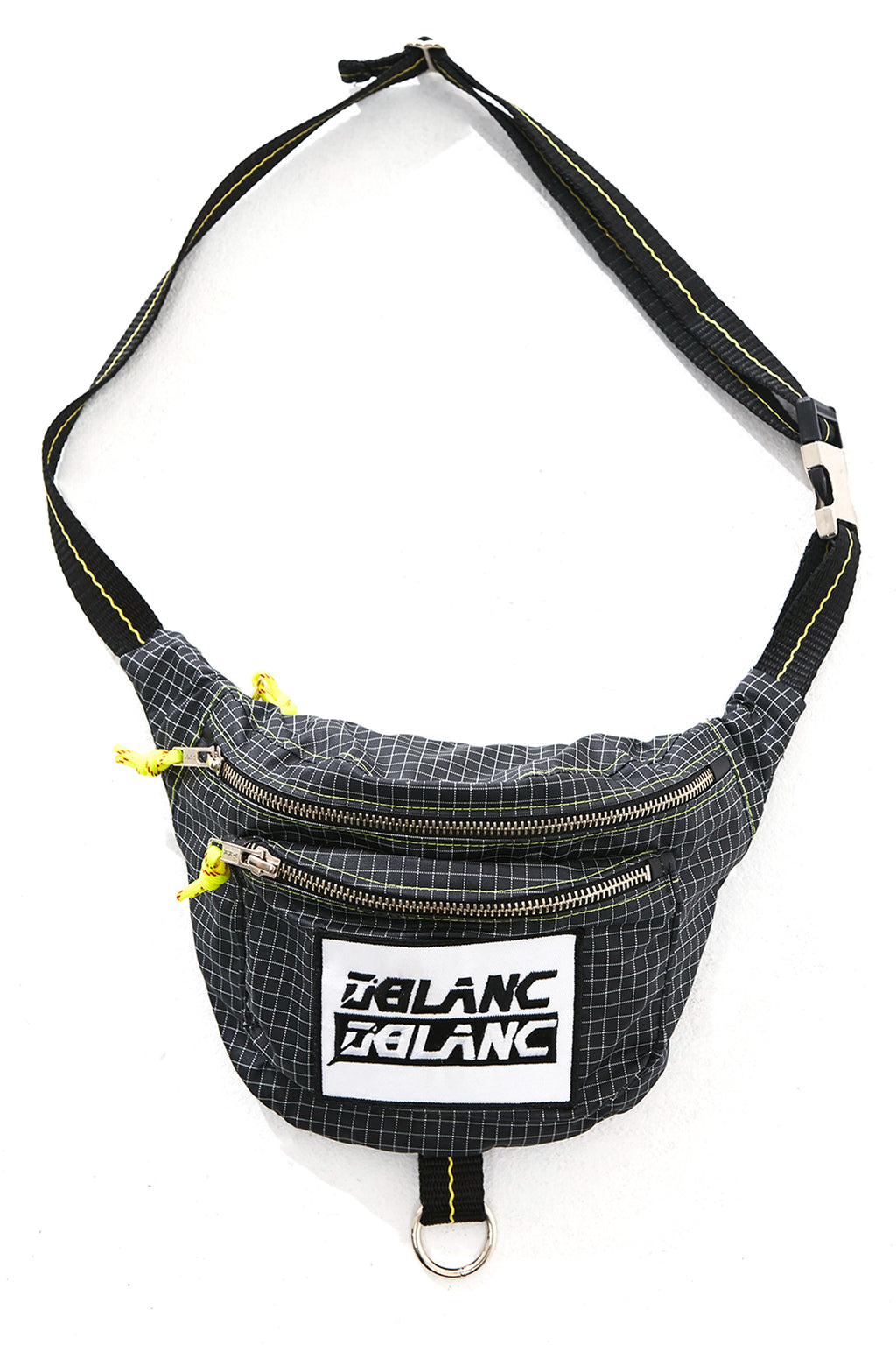 GRIDDED NYLON FANNY PACK