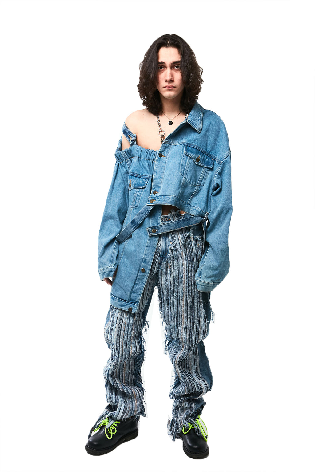 DECONSTRUCTED DENIM JACKET
