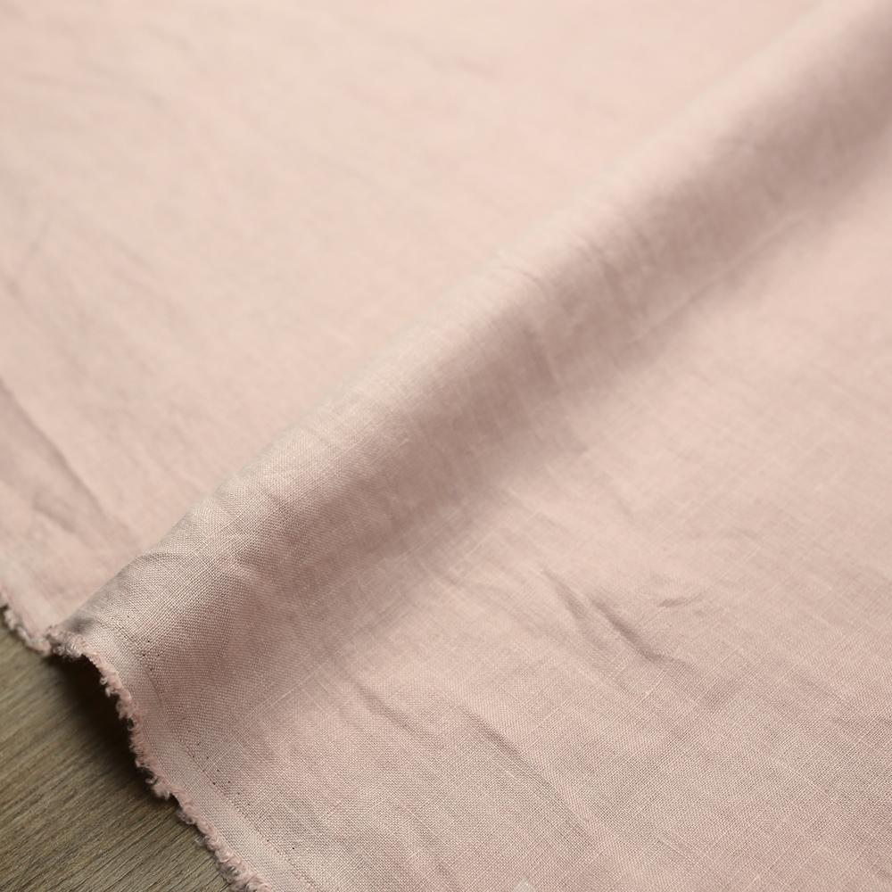 Oharayaseni Solid Colour Washer Finish Linen - Light Pink 119 - 50cm