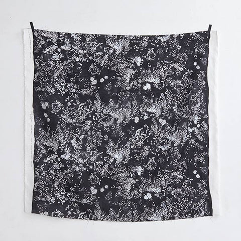 Nani Iro Kokka Lei Nani For Beautiful Corolla - Linen - Black - 50cm