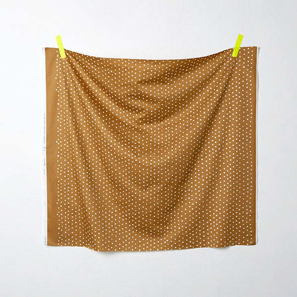 Nani IRO Kokka Pocho Petit Cotton Sateen - Brown C - 50cm