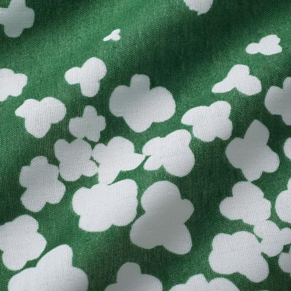 """100/% Lawn Cotton 58/""""//147 cm Wide Large spot Fabric Cream and Emerald Green"""