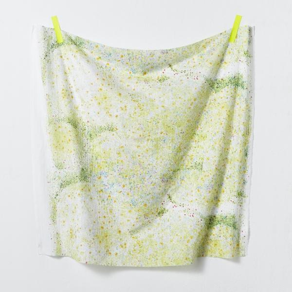Nani IRO Kokka Birds Eye Double Gauze - Green N - 50cm - Nekoneko Fabric