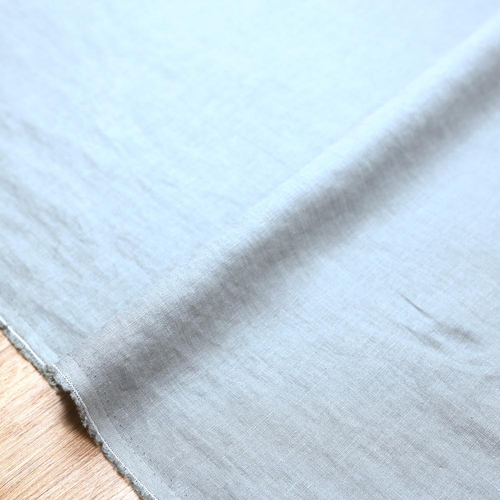 Oharayaseni Solid Colour Washer Finish Linen - Dusty Light Blue 118 - 50cm