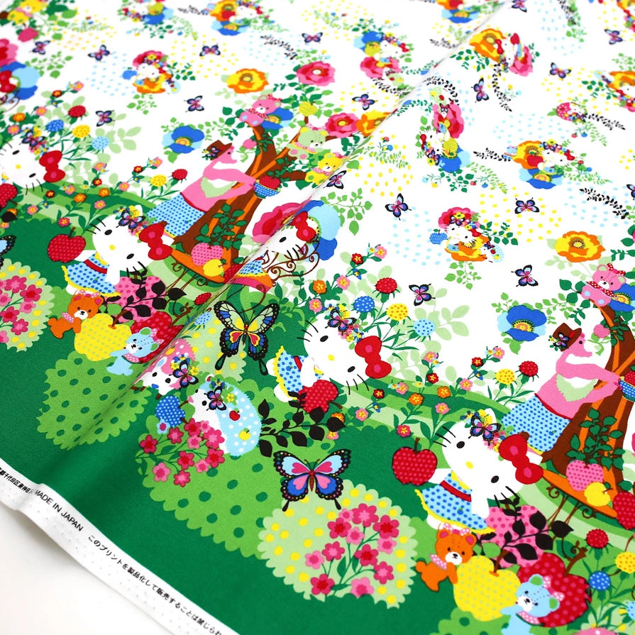Hello Kitty Sanrio Kayo Horaguchi Soft Canvas - White - 50cm - Nekoneko Fabric