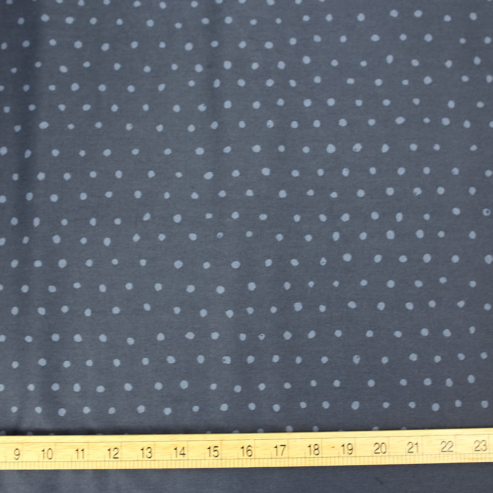 Nani IRO Kokka Pocho Petit Cotton Sateen - Dark Grey B - 50cm - Nekoneko Fabric