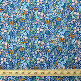 Cotton + Steel Rifle Paper Co Meadow Meadow - Cotton - Blue - Half Yard - Nekoneko Fabric