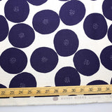 Kokka Muddy Works by Tomotake Anpan - Mortley Cross Soft Canvas - Blue - 50cm - Nekoneko Fabric
