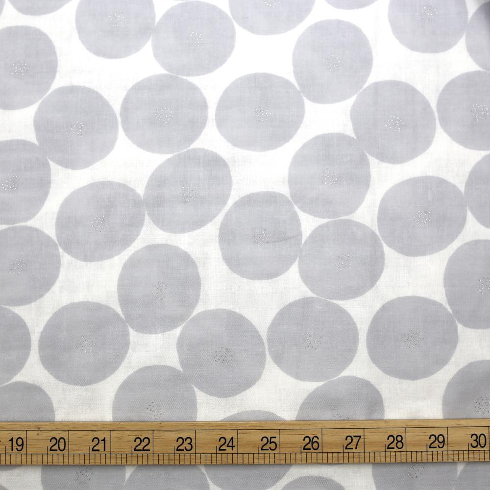 Kokka Muddy Works by Tomotake Mini Anpan - Double Gauze - Grey - Fat Quarter - Nekoneko Fabric