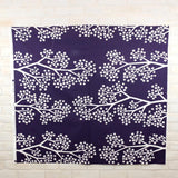 Kokka Muddy Works by Tomotake Sakura - Mortley Cross Soft Canvas - Dark Blue - 50cm