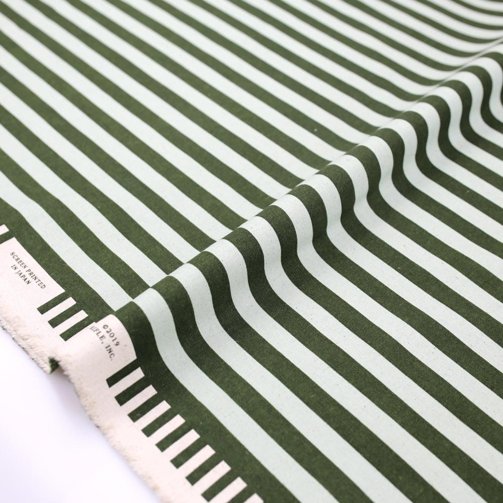 Cotton + Steel Rifle Paper Co Primavera Cabana Stripe - Canvas - Mint - Half Yard - Nekoneko Fabric