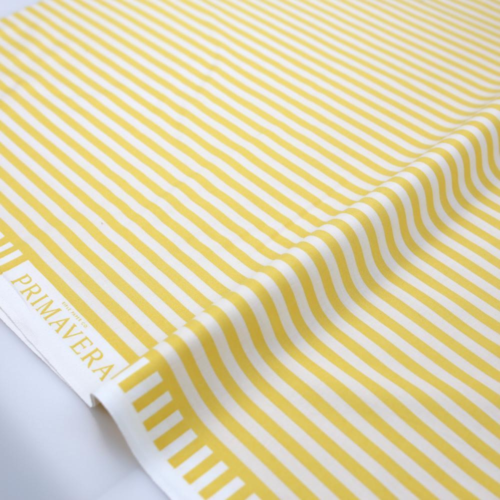 Cotton + Steel Rifle Paper Co Primavera Cabana Stripe - Cotton - Yellow - Fat Quarter - Nekoneko Fabric