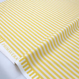 Cotton + Steel Rifle Paper Co Primavera Cabana Stripe - Cotton - Yellow - Half Yard - Nekoneko Fabric