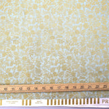 Cotton + Steel Rifle Paper Co Primavera Moxie Floral - Metallic Cotton - Mint - Half Yard - Nekoneko Fabric