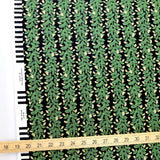 Cotton + Steel Rifle Paper Co Primavera Climbing Vines - Cotton - Black - Half Yard - Nekoneko Fabric