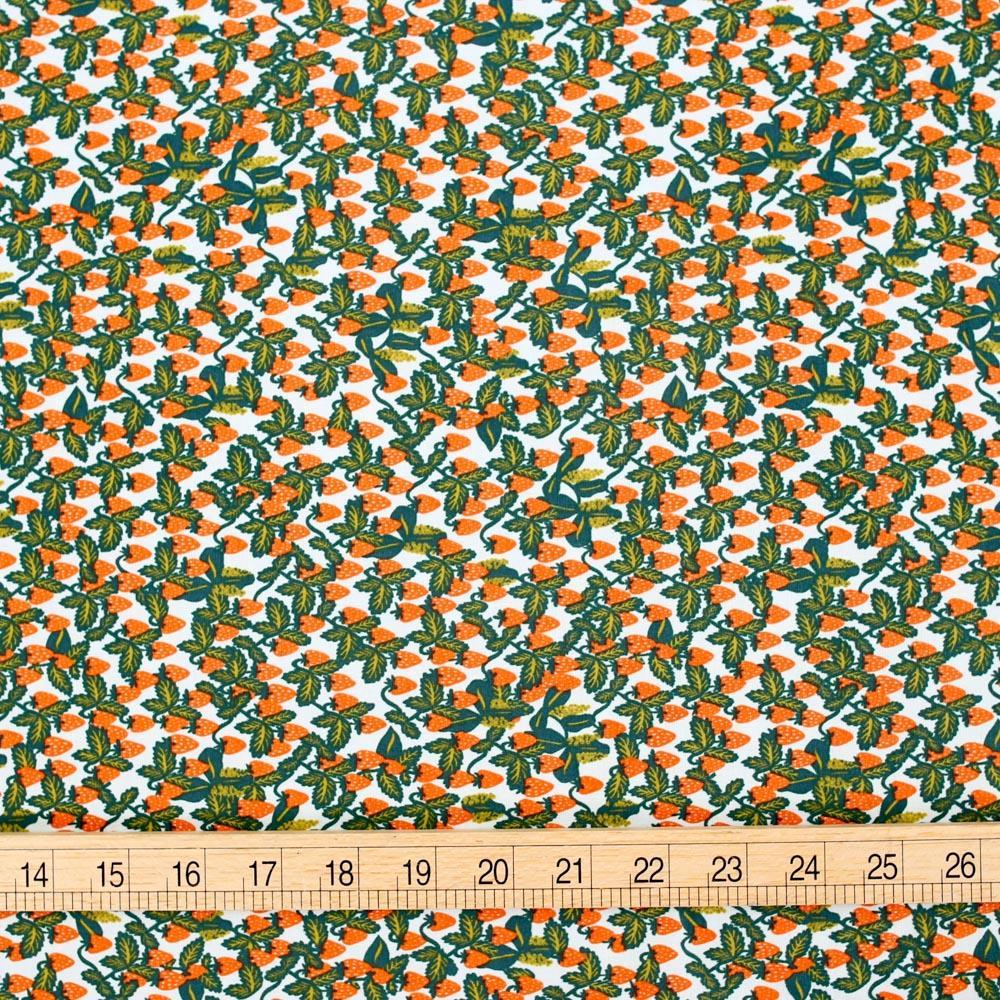 Cotton + Steel Rifle Paper Co Primavera Strawberries - Cotton - Mint - Fat Quarter - Nekoneko Fabric