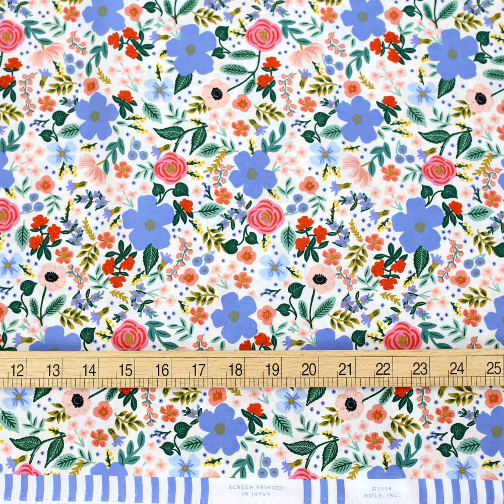 Cotton + Steel Rifle Paper Co Primavera Wild Rose - Rayon - Cream - Half Yard - Nekoneko Fabric