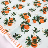 Cotton + Steel Rifle Paper Co Primavera Citrus Blossom - Rayon - Orange - Half Yard - Nekoneko Fabric