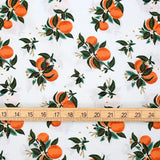 Cotton + Steel Rifle Paper Co Primavera Citrus Blossom - Rayon - Orange - Fat Quarter - Nekoneko Fabric