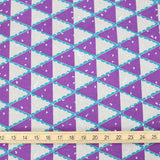 Kokka Echino Tent Canvas - Purple - 50cm - Nekoneko Fabric