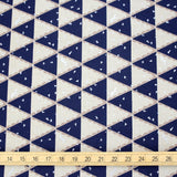 Kokka Echino Tent Canvas - Blue - 50cm - Nekoneko Fabric