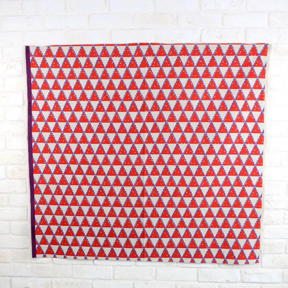 Kokka Echino Tent Canvas - Red - 50cm - Nekoneko Fabric