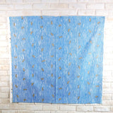 Kokka Kotorinuno Trikotri Neko Stripe Cotton Linen Sheeting - Blue - 50cm - Nekoneko Fabric