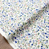 Kobayashi Floral C Cotton Broadcloth - Blue - 50cm