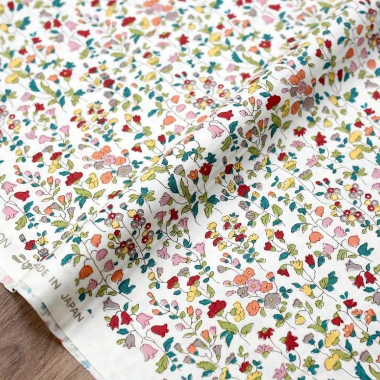 Kobayashi Floral C Cotton Broadcloth - Red - 50cm