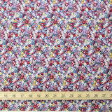Kobayashi Floral E Cotton Broadcloth - Purple Red - 50cm