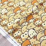 Hello Kitty Sanrio Chigiri Bread Cotton Canvas - Khaki - 50cm