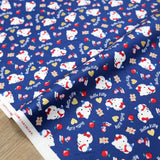 Hello Kitty Sanrio Kitty Books Cotton Canvas - Navy - 50cm
