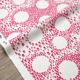 Kobayashi Floral Circle Cotton Canvas - Pink - Fat Quarter