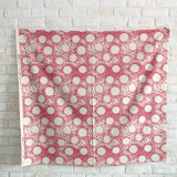 Kobayashi Floral Circle Cotton Canvas - Pink - 50cm