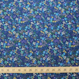 Kokka Floral 6 - Cotton Lawn - Blue E - Fat Quarter