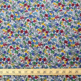Kokka Floral 6 - Cotton Lawn - Grey Red D - 50cm