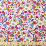 Kokka Floral 2 Small Daisies Cotton Lawn Bundle - 4 x Fat Quarters
