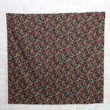 Kokka Floral 6 - Cotton Lawn - Black Red F - Fat Quarter