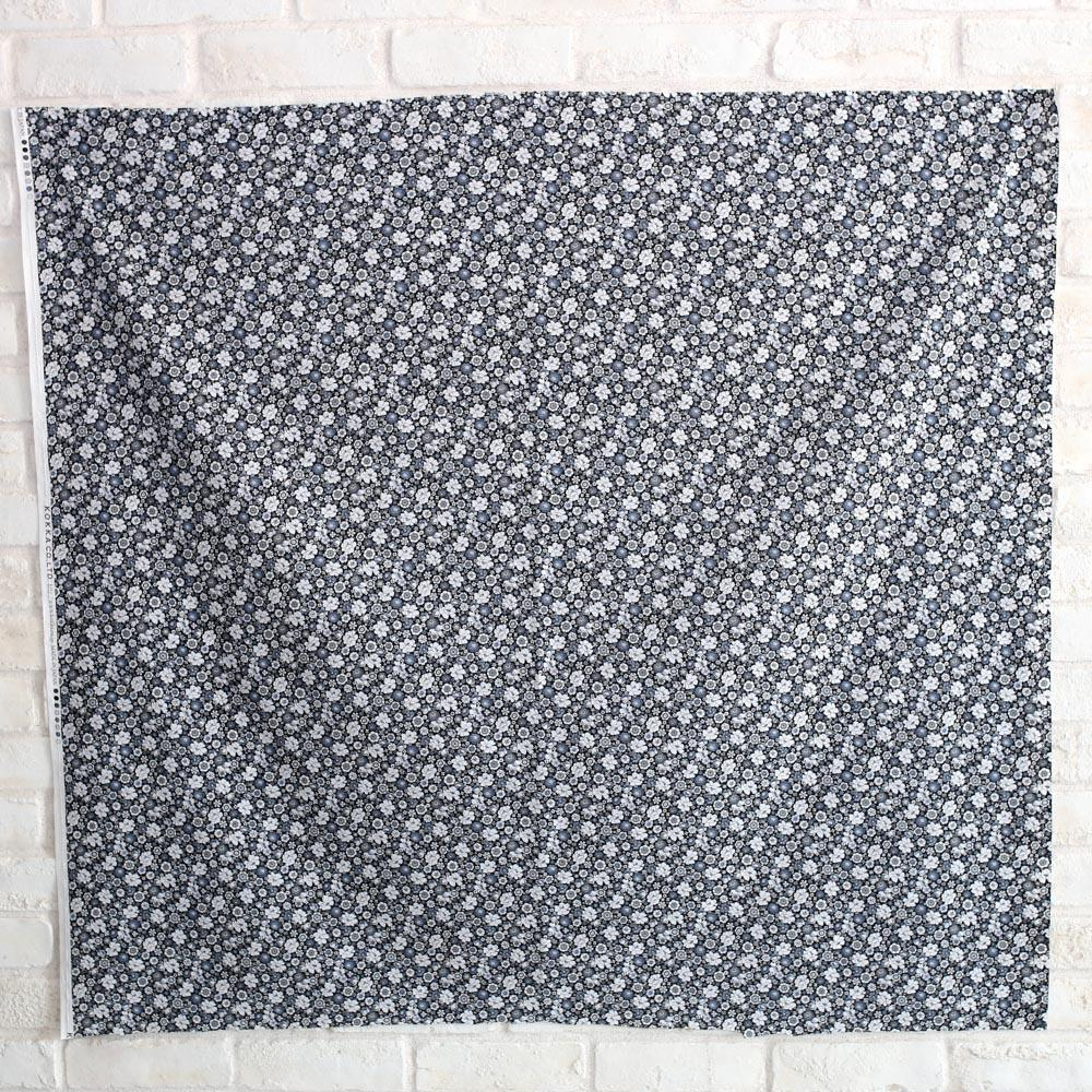 Kokka Floral 4 - Cotton Lawn - Black F - 50cm