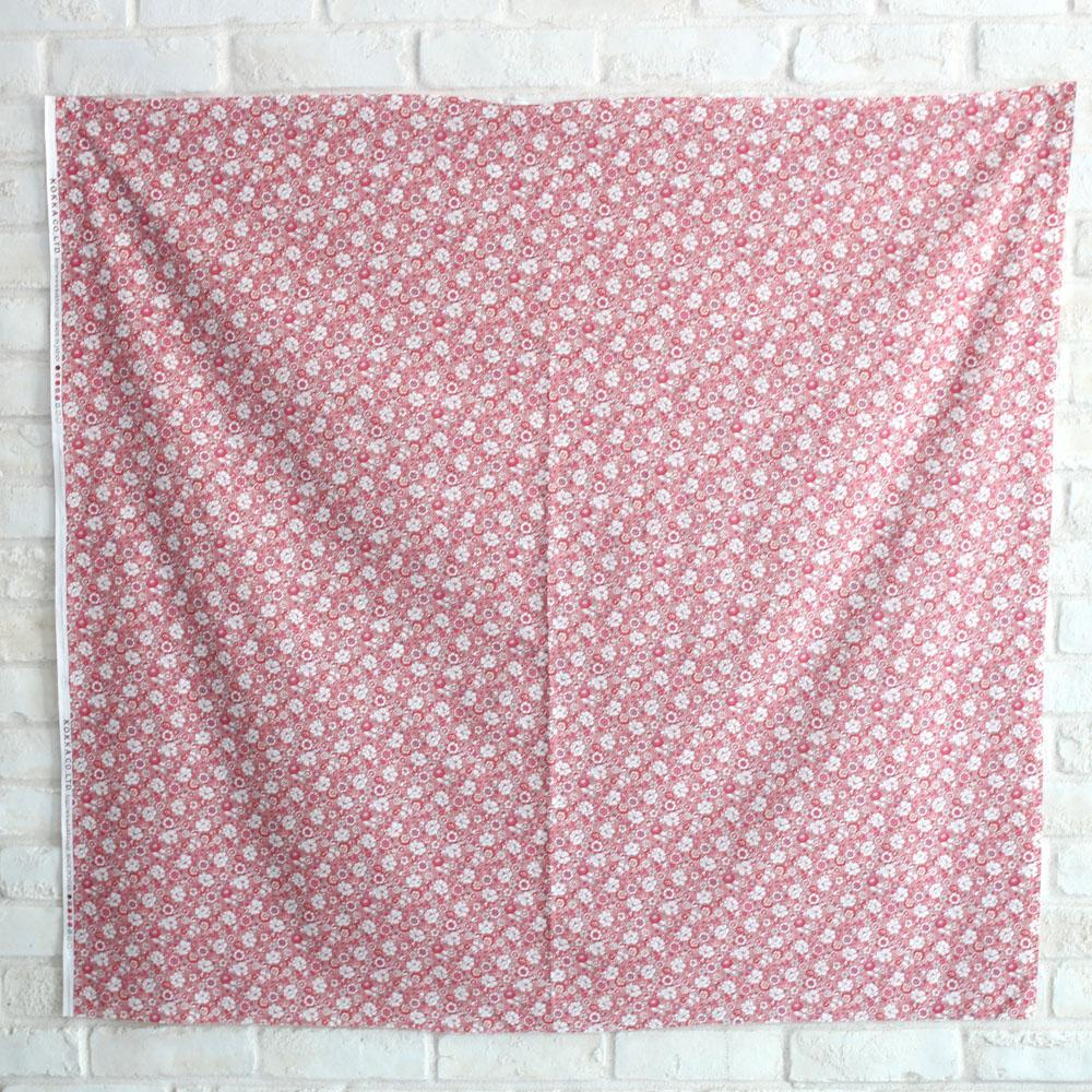 Kokka Floral 4 - Cotton Lawn - Red B - 50cm
