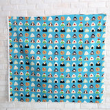 Kokka Large Onigiri - Cotton Oxford Canvas - Teal