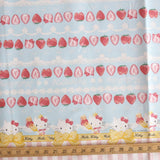 Hello Kitty Sanrio Strawberry Shortcake - Cotton Canvas - Blue - 50cm