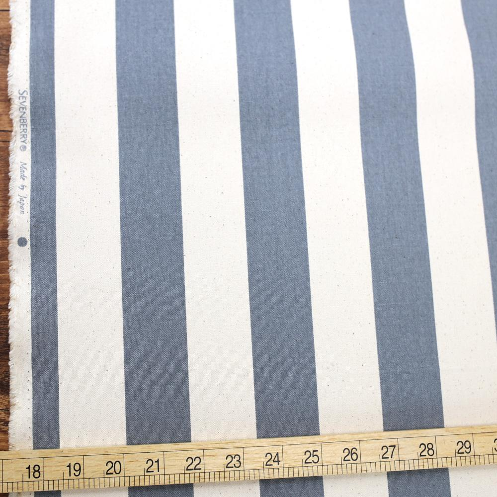 Sevenberry Large Wide Stripes #11 Canvas - Grey - 50cm
